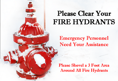 CLEAR EM OUT: Officials ask for residents to clear around fire hydrants