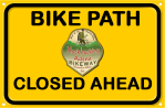 Hockhocking_Adena_Bikeway CLOSED Sign