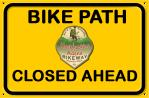 Hockhocking_Adena_Bikeway CLOSED Sign